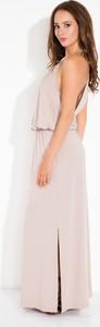 Sukienka FLORENCE z dekoltem na plecach oversize maxi
