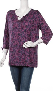 Bluzka Nkd z dekoltem w kształcie litery v z długim rękawem
