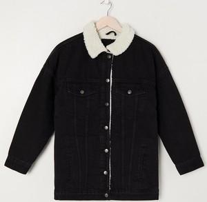Czarna kurtka Sinsay krótka w stylu casual bez kaptura