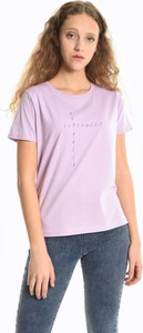 T-shirt Gate z krótkim rękawem z bawełny w młodzieżowym stylu