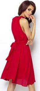 Czerwona sukienka Ivon rozkloszowana