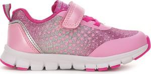 Różowe buty sportowe dziecięce American Club dla dziewczynek
