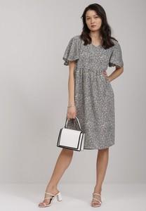 Sukienka Renee midi z krótkim rękawem