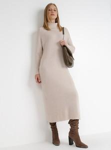 Sukienka born2be midi z długim rękawem z tkaniny