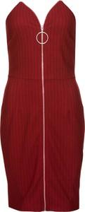 Brązowa sukienka bonprix BODYFLIRT boutique bez rękawów midi