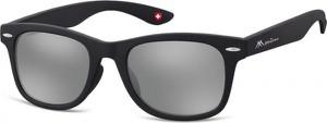 Stylion Okulary przeciwsłoneczne Lustrzanki dziecięce nerdy wayfarer Montana 965E czarne matowe