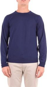 Niebieski sweter Heritage z wełny