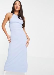 Sukienka Asos bez rękawów midi z dekoltem halter