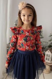 Bluzka dziecięca Myprincess / Lily Grey z bawełny z długim rękawem