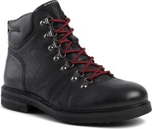 Czarne buty zimowe MEXX sznurowane