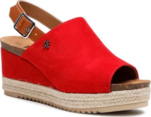 Czerwone espadryle Refresh z tkaniny w stylu casual