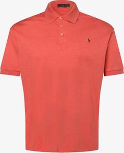 Czerwona koszulka polo POLO RALPH LAUREN z krótkim rękawem