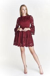 c14579b8ea koronkowa sukienka rozkloszowana - stylowo i modnie z Allani
