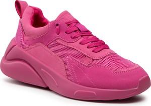 Różowe buty sportowe KEDDO sznurowane