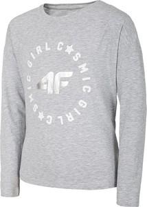 Koszulka dziecięca 4F z bawełny z długim rękawem