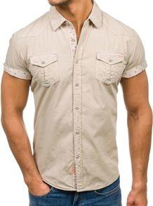 Koszula Denley z bawełny z krótkim rękawem