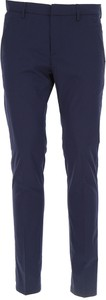 Granatowe spodnie Dondup z bawełny