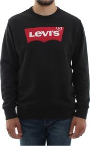 Czarna bluza Levis w młodzieżowym stylu z bawełny