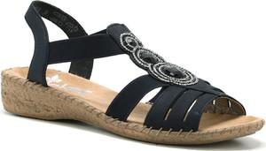 Sandały Rieker na niskim obcasie w stylu casual
