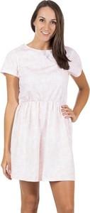 Sukienka Adidas Neo z okrągłym dekoltem z krótkim rękawem mini