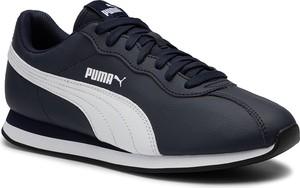 Czarne buty sportowe Puma sznurowane ze skóry ekologicznej