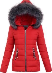 Czerwona kurtka fasoni.pl w stylu casual krótka