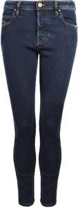 Niebieskie jeansy Diesel w street stylu z bawełny