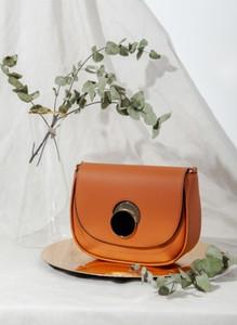 Pomarańczowa torebka DeeZee matowa mała w stylu retro
