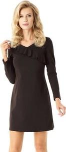Brązowa sukienka Ella Dora z długim rękawem