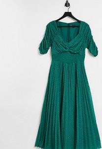 Sukienka Asos z dekoltem w kształcie litery v z żakardu