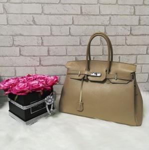 5a8de417b Vera pelle klasyczna skórzana torebka kuferek a'la hermes beżowy