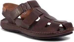 Brązowe buty letnie męskie PIKOLINOS na rzepy