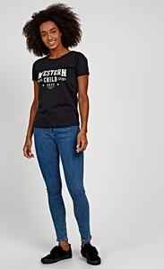 T-shirt Gate w młodzieżowym stylu z bawełny z okrągłym dekoltem