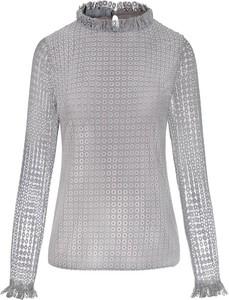 Bluzka Manifiq&Co. z długim rękawem z tkaniny z golfem