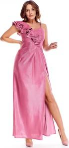 Sukienka Ptakmoda.com na ramiączkach z dekoltem w kształcie litery v