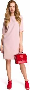 Sukienka Style z krótkim rękawem z okrągłym dekoltem prosta
