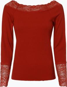 Czerwony t-shirt Vila z długim rękawem