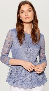 Niebieska bluzka Mohito z krótkim rękawem