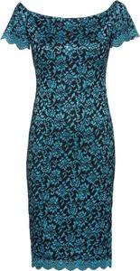 Sukienka bonprix BODYFLIRT boutique dopasowana z krótkim rękawem midi