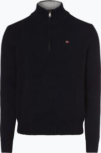 Granatowy sweter Napapijri w stylu casual z wełny