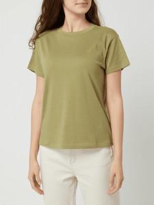 Zielony t-shirt Marc O'Polo z krótkim rękawem w stylu casual z okrągłym dekoltem