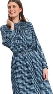 Sukienka Top Secret z kołnierzykiem w stylu casual koszulowa
