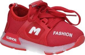 Czerwone buty sportowe dziecięce Casu sznurowane