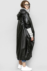 Czarna kurtka Freeshion z tkaniny w stylu casual