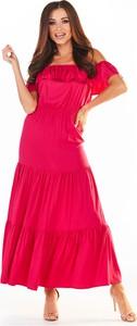 Sukienka Awama z krótkim rękawem maxi
