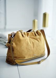 Brązowa torebka Fason na ramię w stylu casual