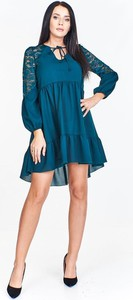 Niebieska sukienka Pawelczyk24.pl z długim rękawem