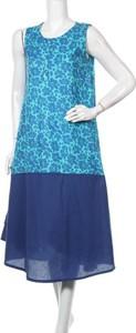 Niebieska sukienka Namaste z okrągłym dekoltem bez rękawów