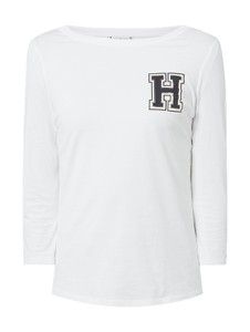 Bluzka Tommy Hilfiger z okrągłym dekoltem z bawełny