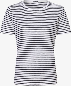 Niebieski t-shirt Drykorn z krótkim rękawem